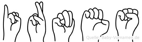 Irnes im Fingeralphabet der Deutschen Gebärdensprache