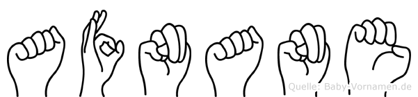 Afnane im Fingeralphabet der Deutschen Gebärdensprache