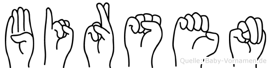 Birsen in Fingersprache für Gehörlose