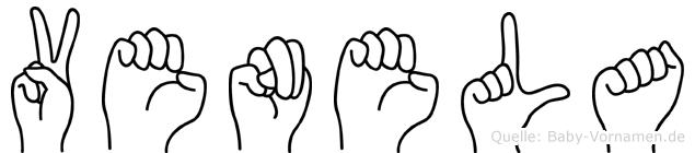 Venela im Fingeralphabet der Deutschen Gebärdensprache