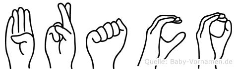 Braco in Fingersprache für Gehörlose