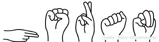 Hüsran im Fingeralphabet der Deutschen Gebärdensprache