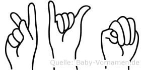 Kym im Fingeralphabet der Deutschen Gebärdensprache