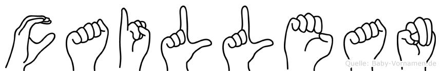 Caillean in Fingersprache für Gehörlose