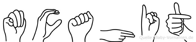 Mücahit im Fingeralphabet der Deutschen Gebärdensprache