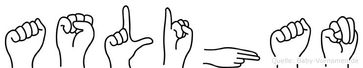 Aslihan im Fingeralphabet der Deutschen Gebärdensprache