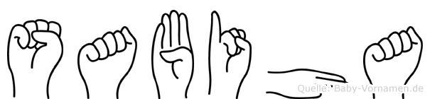 Sabiha im Fingeralphabet der Deutschen Gebärdensprache