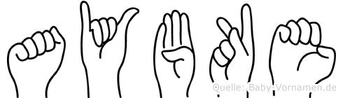 Aybüke in Fingersprache für Gehörlose