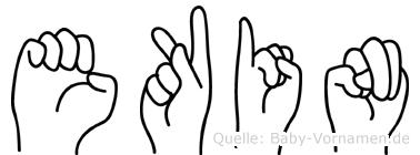 Ekin in Fingersprache für Gehörlose