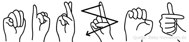 Mirzet im Fingeralphabet der Deutschen Gebärdensprache
