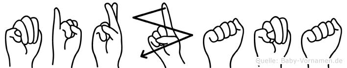 Mirzana im Fingeralphabet der Deutschen Gebärdensprache