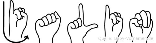 Jalin in Fingersprache für Gehörlose
