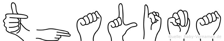Thalina im Fingeralphabet der Deutschen Gebärdensprache