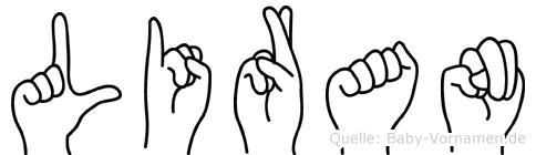 Liran im Fingeralphabet der Deutschen Gebärdensprache
