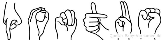 Pontus in Fingersprache für Gehörlose