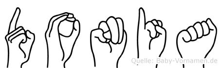 Donia in Fingersprache für Gehörlose
