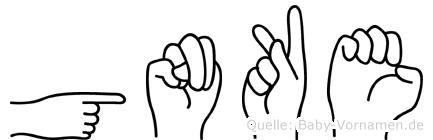 Gönke in Fingersprache für Gehörlose