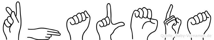 Khaleda in Fingersprache für Gehörlose
