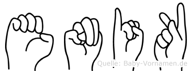 Enikö im Fingeralphabet der Deutschen Gebärdensprache
