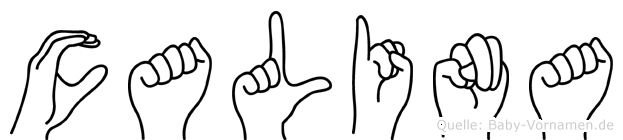 Calina in Fingersprache für Gehörlose