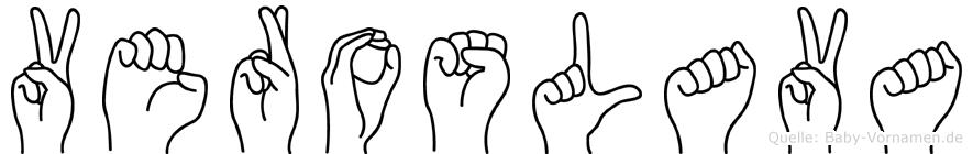 Veroslava im Fingeralphabet der Deutschen Gebärdensprache