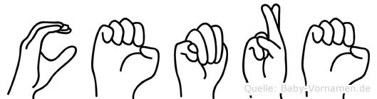 Cemre im Fingeralphabet der Deutschen Gebärdensprache