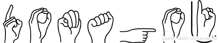 Domagoj im Fingeralphabet der Deutschen Gebärdensprache