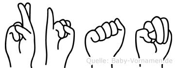Rian in Fingersprache für Gehörlose