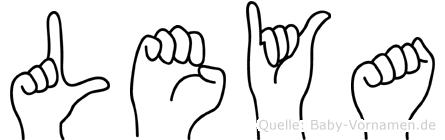 Leya im Fingeralphabet der Deutschen Gebärdensprache