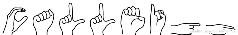 Calleigh in Fingersprache für Gehörlose