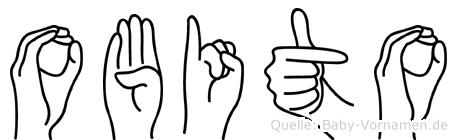 Obito im Fingeralphabet der Deutschen Gebärdensprache