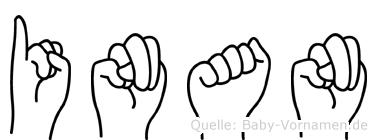 Inan im Fingeralphabet der Deutschen Gebärdensprache