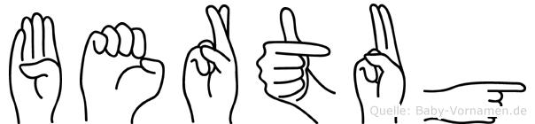Bertug in Fingersprache für Gehörlose