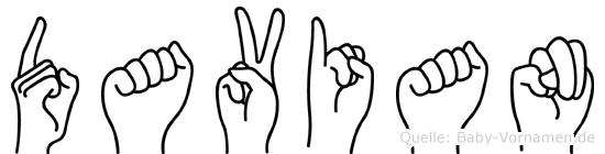 Davian in Fingersprache für Gehörlose