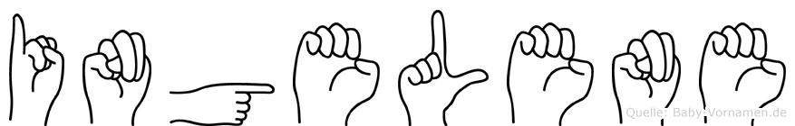 Ingelene in Fingersprache für Gehörlose