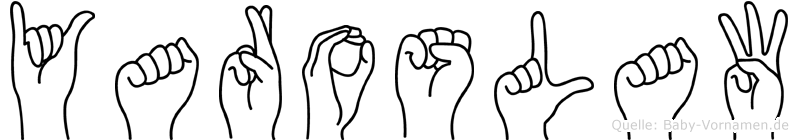 Yaroslaw im Fingeralphabet der Deutschen Gebärdensprache