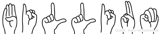 Billium in Fingersprache für Gehörlose