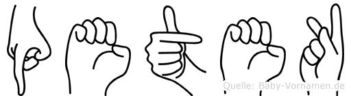 Petek in Fingersprache für Gehörlose