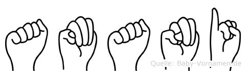 Amani im Fingeralphabet der Deutschen Gebärdensprache