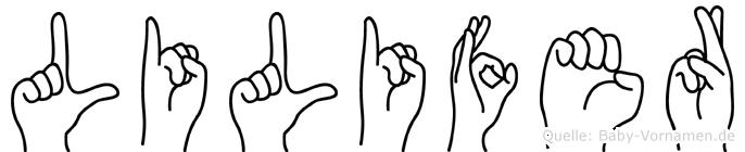 Lilifer in Fingersprache für Gehörlose