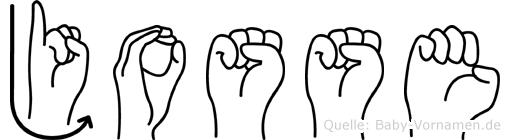 Josse im Fingeralphabet der Deutschen Gebärdensprache