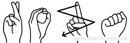 Roza in Fingersprache für Gehörlose