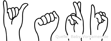 Yari im Fingeralphabet der Deutschen Gebärdensprache
