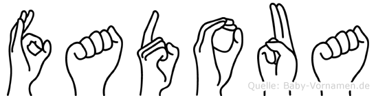 Fadoua im Fingeralphabet der Deutschen Gebärdensprache