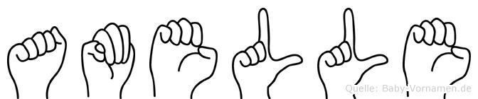 Amelle in Fingersprache für Gehörlose