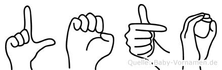 Leto in Fingersprache für Gehörlose