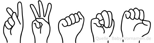 Kwane im Fingeralphabet der Deutschen Gebärdensprache