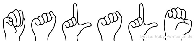 Malale in Fingersprache für Gehörlose
