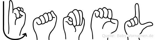 Jamel im Fingeralphabet der Deutschen Gebärdensprache
