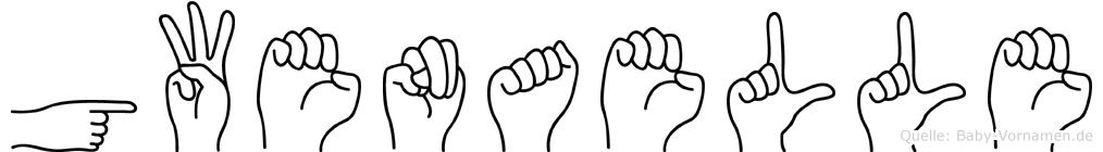 Gwenaelle im Fingeralphabet der Deutschen Gebärdensprache